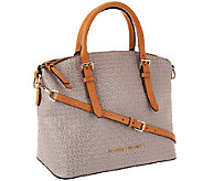 As Is Dooney & Bourke Claremont Woven Embossed Domed Satchel - A273173