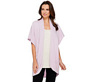 AnyBody Loungewear Cozy Knit Drape Pocket Jacket Wrap - A275073