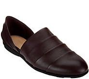 As Is H by Halston Pieced Leather Slip-on Shoes - Elisa - A278673