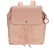 As Is Isaac Mizrahi Live! SOHO Pebble Leather Backpack - A278973
