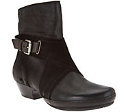 Miz Mooz Leather Boots with Crossover Detail - Elwood - A282873