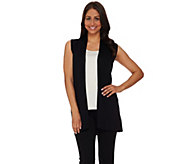 As Is Susan Graver Rayon Nylon Cascade Front Sweater Vest - A283573