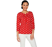 Susan Graver Weekend Printed Stretch Cotton Modal Top - A287673