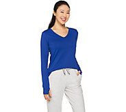 cee bee CHERYL BURKE V-Neck Long Sleeve Hi-Low Top - A288073
