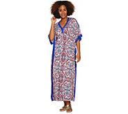 Ellen Tracy Silky Smooth Jersey Knit Long Caftan - A289773