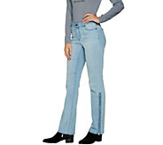 Peace Love World Boot Cut Denim Jeans with Side Zip Detail - A296573