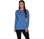 H by Halston Essentials Long Sleeve Crew Neck Tunic - A296773