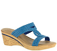 Tuscany by Easy Street Wedge Slide Sandals - Loano - A339073