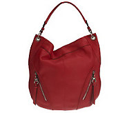 B. Makowsky Glove Leather Slouchy Hobo with Stitch Detail - A221274