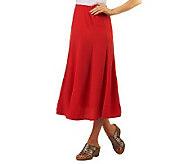 Susan Graver Crinkle Gauze Pull-on Skirt - A222474