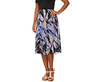 Bob Mackies Mariposa Print Pull-on Fully Lined Godet Skirt - A223774