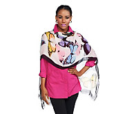 Joan Rivers Whimsical Butterfly Print Scarf - A232674