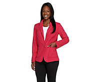 Isaac Mizrahi Live! Single Closure Classic Tweed Blazer - A237074