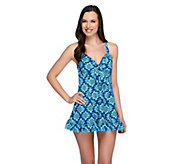Fit 4 U Hips Starburst Flip Swim Dress - A252574