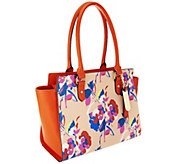 Emma and Sophia Printed Saffiano Leather Charlotte Tote - A253974