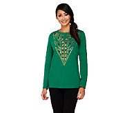 Bob Mackies Studded Detail Pullover Top - A260174