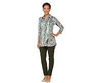 Women with Control Tall Printed Tunic & Ankle Pants Set - A262174