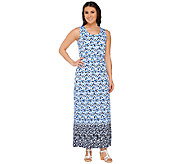 Liz Claiborne New York Geo Border Print Maxi Dress - A262974
