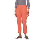 Women with Control Regular Cropped Cargo Pants - A264074