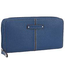 Tignanello Pebble Leather Zip Around Wallet