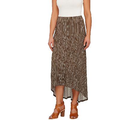 rinna collection hi low hem maxi skirt with seam