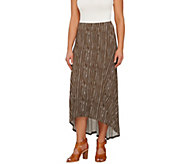 Lisa Rinna Collection Hi-Low Hem Maxi Skirt with Seam Detail - A264574