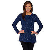Linea Leisure by Louis DellOlio Long Sleeve Knit Tunic - A267874