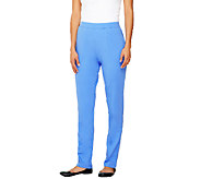 As Is Denim & Co. Active French Terry Pull-on Pants w/ Seam Detail - A268074
