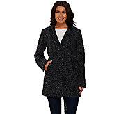 Susan Graver Faux Wool Boyfriend Coat - A268574