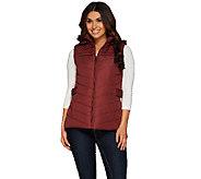 Liz Claiborne New York Puffer Vest w/ Chevron Quilting - A269074