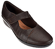 Clarks Leather Mary Janes w/ Adj. Strap - Everlay Daphne - A270274