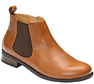 Vionic w/ Orthaheel Leather Chelsea Boots - Nadelle - A270374