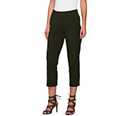 Women with Control Petite Pull-On Crop Pants with Pockets - A276074