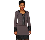 As Is Project Runway by Dmitry Sholokhov Knit Jacket w/ Faux - A277674