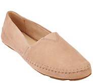 As Is Isaac Mizrahi Live! Suede Moccasins with Stitching - A283574