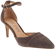 As Is Sole Society Suede Ankle Strap Pumps - Alix - A284074