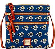 Dooney & Bourke NFL Rams Triple Zip Crossbody - A285674
