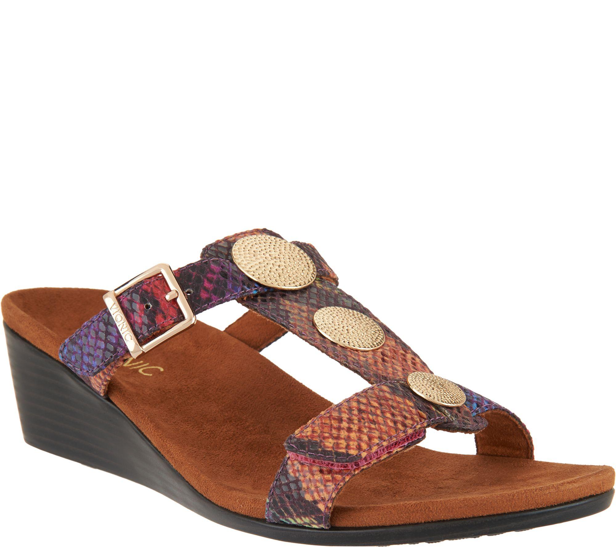 Shoes n sandals online - Vionic Orthotic Embellished Slide Wedges Cleona A288374