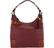 As Is Isaac Mizrahi Live! Bridgehampton Pebble Leather Hobo Handbag - A289074