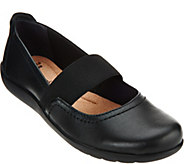 As Is Clarks Nubuck Leather Mary Janes - Medora Ally - A290874