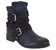Miz Mooz Leather Ankle Boots w/ Buckle Detail - Savvy - A296774