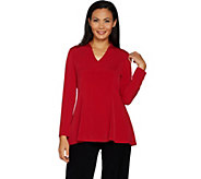 Susan Graver Modern Essentials Liquid Knit Fit & Flare Top - A297674