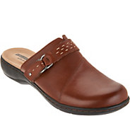 Clarks Leather Lightweight Clogs - Leisa Sadie - A300574