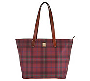Dooney & Bourke Tiverton Plaid Large Zip Shopper Handbag - A300774