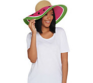 San Diego Hat Co. Ultrabraid Sun Brim Fruit Hat - A303874