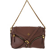 As Is orYany Pebble Leather Convertible Crossbody- Lily - A304274