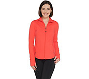 Susan Lucci Collection Zip Front Jacket with Stitching - A308274