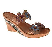 Spring Step Style Deandrea Leather Wedge Sandals - A328574