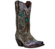 Dan Post Leather Cowboy Boots - Vintage Arrow - A331874