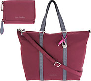 As Is Vera Bradley Midtown Small Tote and Card Case - A342474